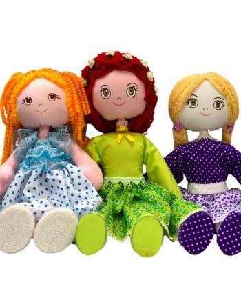 muñecas de trapo hechas a mano